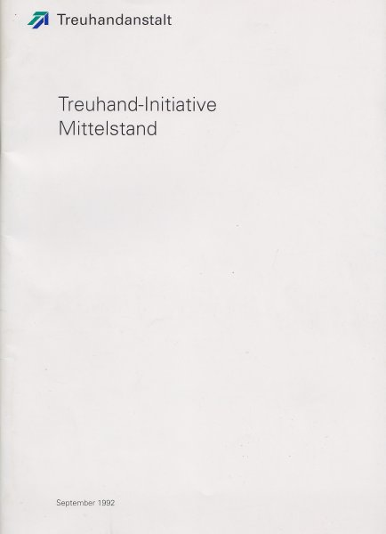 Treuhand-Initiative Mittelstand September 1992